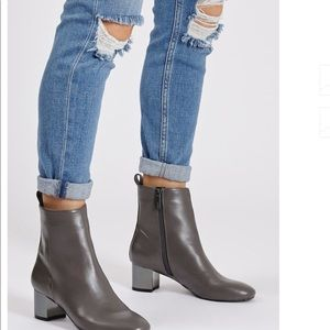 Topshop Gray Heeled Boots